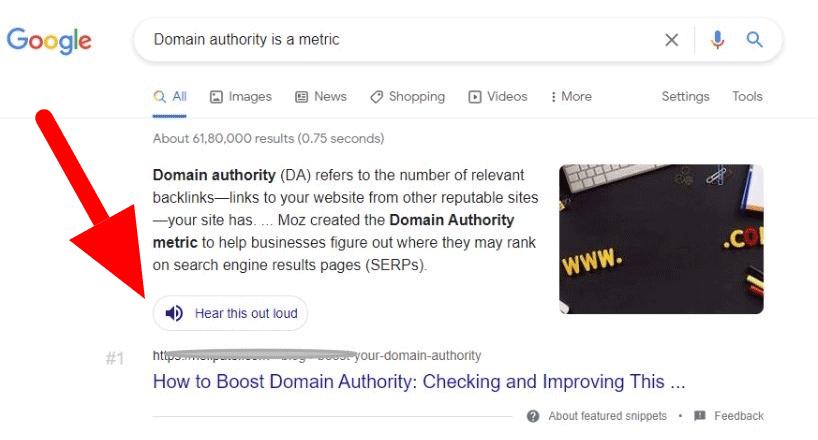 Изображение к новости Google тестирует кнопку для озвучивания результатов поиска