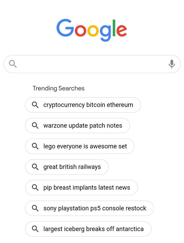 Изображение к новости Google тестирует в мобильном поиске популярные запросы