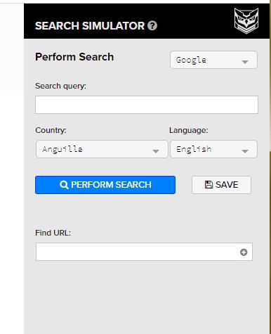 Рис. 6 ‒ Інтерфейс SEO Search Simulator