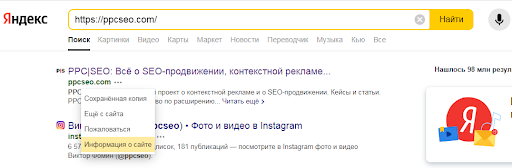 Рис. 2 – Перевірка якості домену в пошуковику