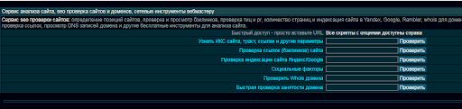 Рис. 3 – Інтерфейс XSEO.in