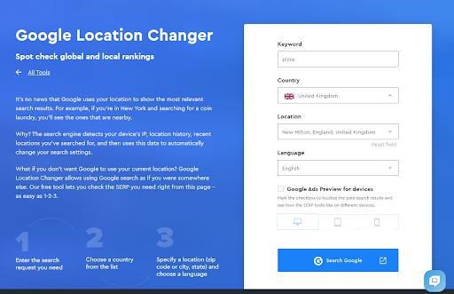 Рис. 4 ‒ Інтерфейс Location Changer