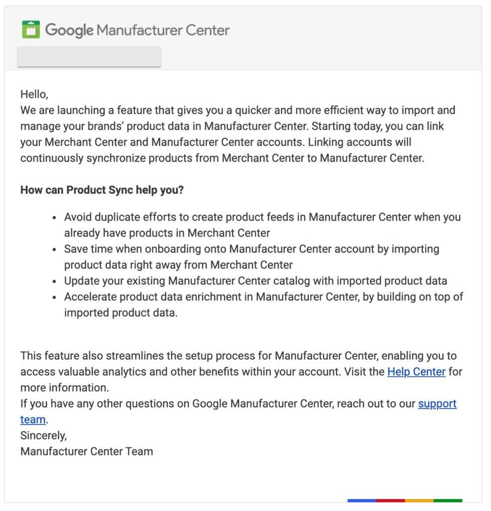 Зображення до новини синхронізувати сервіси Merchant Center та Manufacturer Center