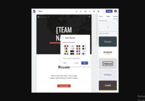 Конструктор Google Sites получил пользовательские темы