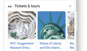 Превью к новости У Google Ads з'явився новий формат пошукової реклами – Things to do
