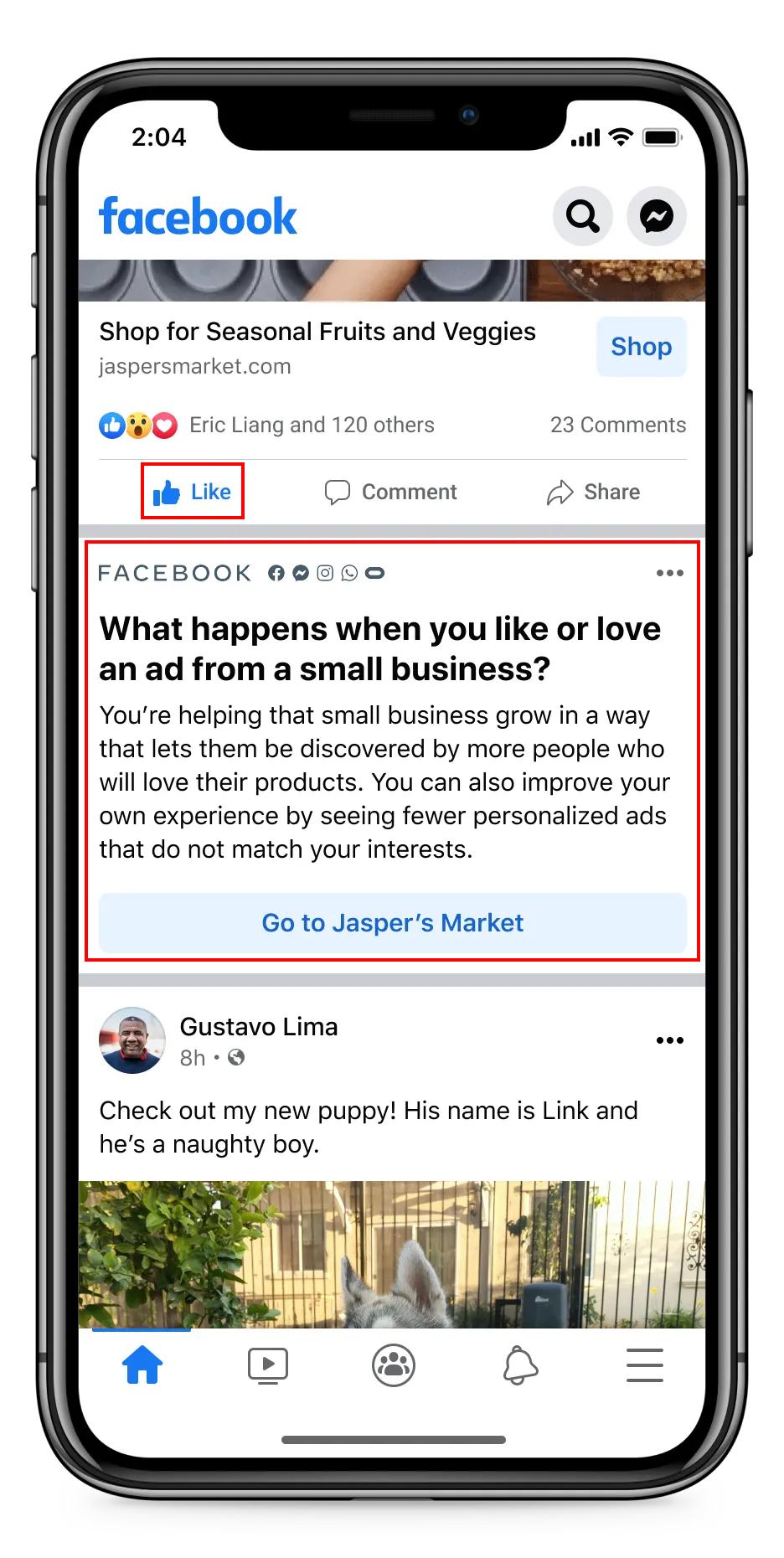 Новини реклами від Facebook