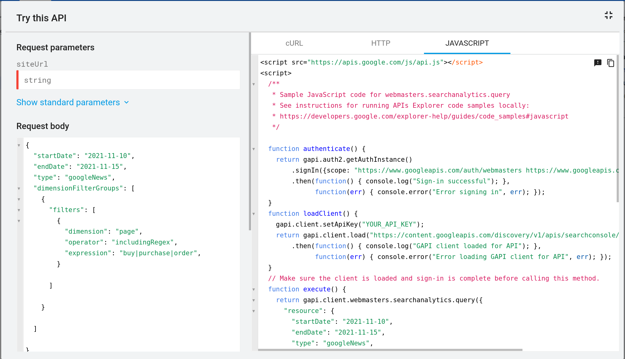 Search Analytics API supports Discover and Google News