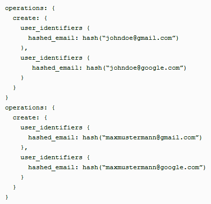 Each set in UserData will represent one user